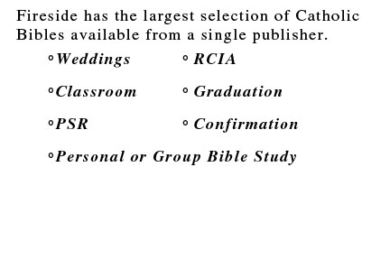 selection of Catholic Bibles
